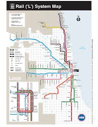 Map Chicago by Cta El Map Adriftskateshop
