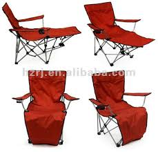 Armchair With Footrest Red Folding Camping Chair With Footrest Buy Outdoor Folding Within
