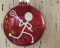 personalized ornament lacrosse player