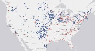 Map Of United States And Capitals by New Interactive Map Displays Every Wind Farm U0026 Factory In America