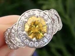 canary engagement ring fancy canary yellow engagement ring