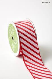 1 5 inch grosgrain ribbon w diagonal stripes and white buy