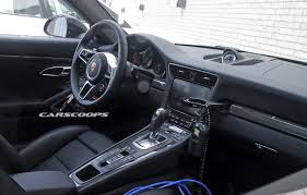 porsche 911 interior interior of facelifted porsche 911 spied gtspirit