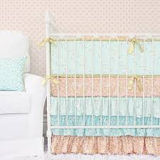 Pink And Gold Baby Bedding Pastel Crib Bedding Soft Color Baby Bedding Caden Lane