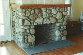 stone fireplaces gray masonry