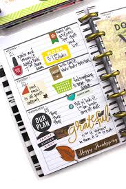 happy thanksgiving date thanksgiving menu layout w matching mini weekly spread u2014 me u0026 my