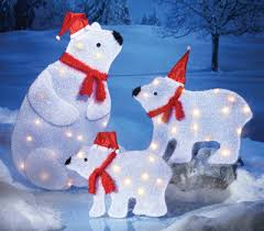 Polar Bear Christmas Light Decorations by Arctic Polar Bear Family Figures Christmas Decoration From