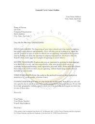cover letter general cover letter for job general cover letter for
