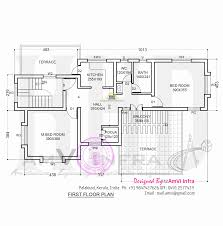 floor plan and elevation of sloping roof house kerala home