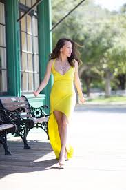 wedding guest style yellow maxi dress