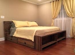 California King Bed Frame With Drawers Wooden King Size Bed Frame U2013 Bare Look
