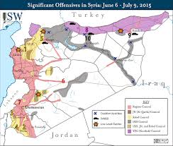 Palmyra Syria Map by Isw Blog Significant Offensives In Syria June 6 July 9 2015