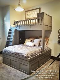 Queen Twin Bunk Bed Plans by 1610 Best Bunk Bed Ideas Images On Pinterest Bedroom Ideas