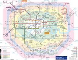Metro Map Of Paris by Large Detailed Metro Map Of London City London City Large
