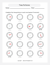 all worksheets telling time to the 5 minutes worksheets