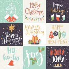 holiday invitation cards merry christmas invitation card set illustrations creative market