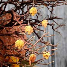 miniature autumn leaf ornaments miniture ornaments