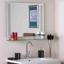 Bathroom Mirrors Montreal Frameless Bathroom Mirror With Shelf In Frameless Mirrors