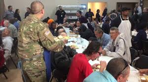feeding the homeless on thanksgiving las vegas rescue mission feeds the homeless and the hungry on