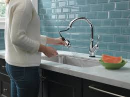 delta leland pull down kitchen faucet faucet com 9178t ar dst in arctic stainless by delta