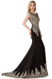 amazon com babyonline trumpet long evening dress lace beads cap