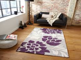 Large Purple Rugs Cheap Simple Striped Interiors Contemporary Living Room Good