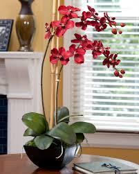 amaryllis silk flower arrangement for christmas u0026 holiday