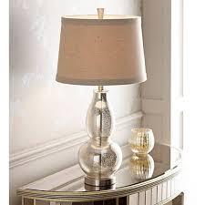 antique mercury glass floor l double gourd 30 1 2 high mercury glass table l v3333 ls plus