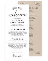 Wedding Bulletin Template Wedding Program Tiny Leaves U2013 Papersizzle
