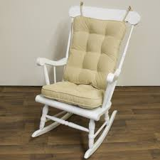 Wooden Rocking Chair For Nursery Tufted Pattern Beige Wooden Rocking Chair Cushions For Nursery On