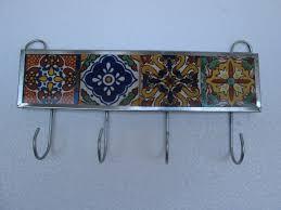 key holder wall talavera tile key holder mexican handmade wall hanging key hook
