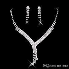 prom necklace cheap bridal jewelry rhinestones prom wedding