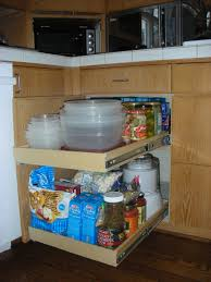 custom diy pull out shelves for kitchen cabinet with wood drawer