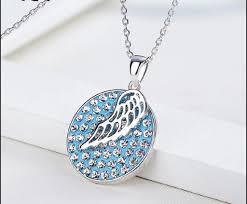 blue crystal necklace swarovski images Blue sea crystal necklace swarovski crystal zedvilla jpg