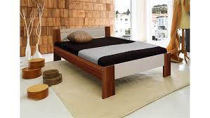 Schlafzimmer Bett Nussbaum Vega Futonbett Weiß Und Walnuss Mit Rollrost Und Matratze 140x200