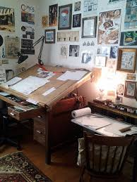 Corner Drafting Table Oh How I A Drafting Table Office In My Dreams Pinterest