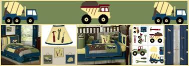 construction zone trucks and tools boys kids bedding