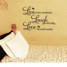amazon vinyl decal live every moment laugh every day love