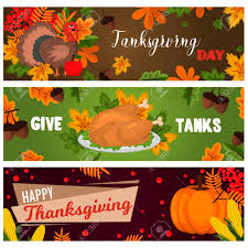 happy thanksgiving cards celebration banner design autumn
