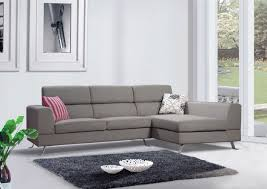 living room grey cotton microfiber sectional couch for modern