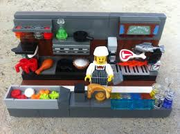 lego kitchen the meaty restaurant s kitchen a lego creation by nick ha