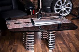 Car Wheel Coffee Table by