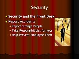 Security Front Desk Hospitality Operations Ppt Video Online Download