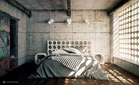 bedroom cool cement bedroom features master bed with geometric