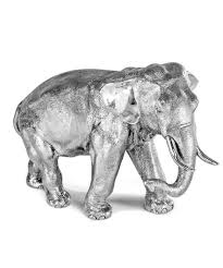 silver elephant ornament