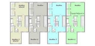 Multi Unit Floor Plans Lovely Multi Unit Floor Plans 3 Three Bedroom Row House Gif