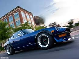 cars nissan car nissan datsun 240z blue cars motion blur vehicle car
