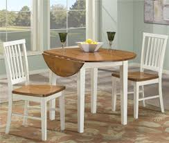 Round Dining Room Table With Leaves 3 Piece Dining Set With Two Drop Leaves By Intercon Wolf And
