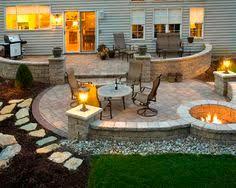 Backyard Decoration Ideas by Brooklyn Limestone Country Cottage Diy Circular Firepit Patio