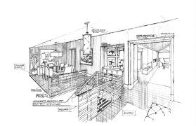 sketch room interior architectural designs sketches reading room sketch idolza